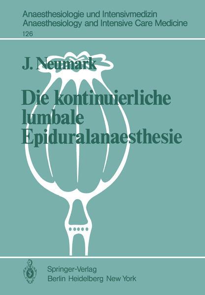 Die kontinuierliche lumbale Epiduralanaesthesie - Coverbild