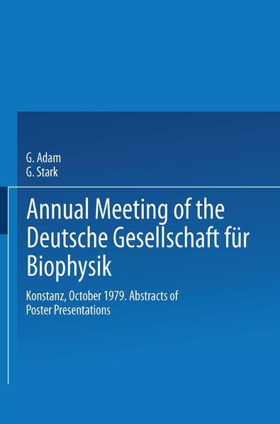 Annual Meeting of the Deutsche Gesellschaft für Biophysik - Coverbild