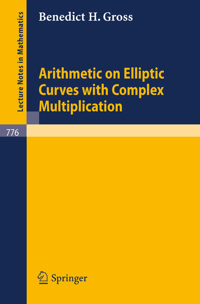 Arithmetic on Elliptic Curves with Complex Multiplication - Coverbild