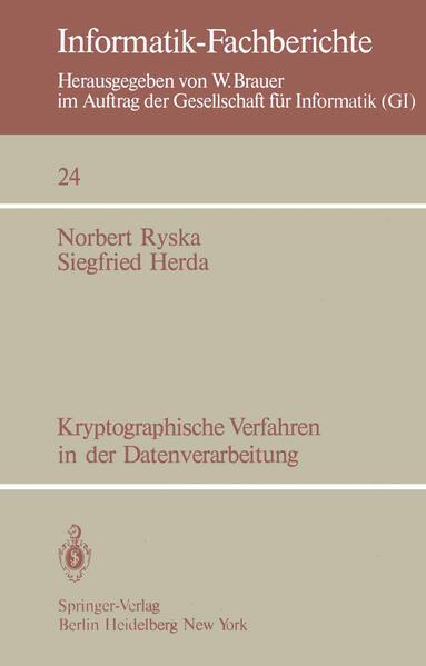Kryptographische Verfahren in der Datenverarbeitung - Coverbild