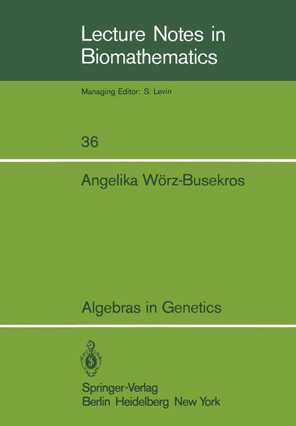 Algebras in Genetics - Coverbild