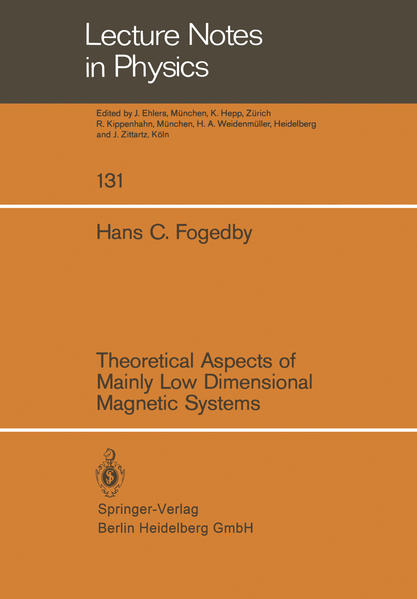Theoretical Aspects of Mainly Low Dimensional Magnetic Systems - Coverbild