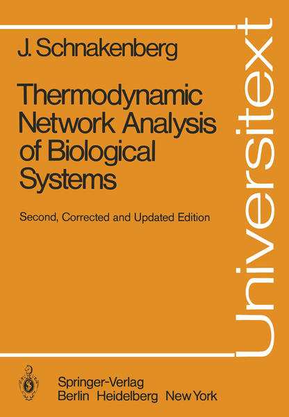Thermodynamic Network Analysis of Biological Systems - Coverbild