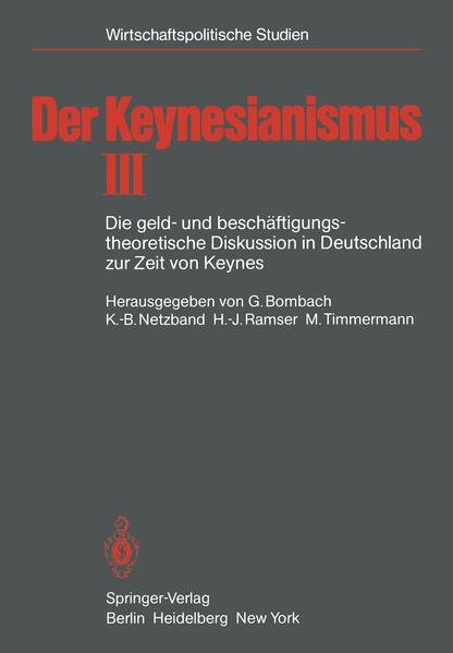 Der Keynesianismus - Coverbild