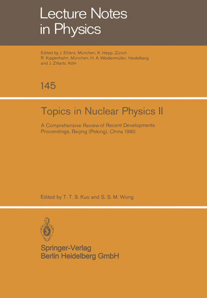 Topics in Nuclear Physics II - Coverbild