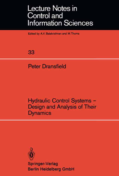 Hydraulic Control Systems — Design and Analysis of Their Dynamics - Coverbild
