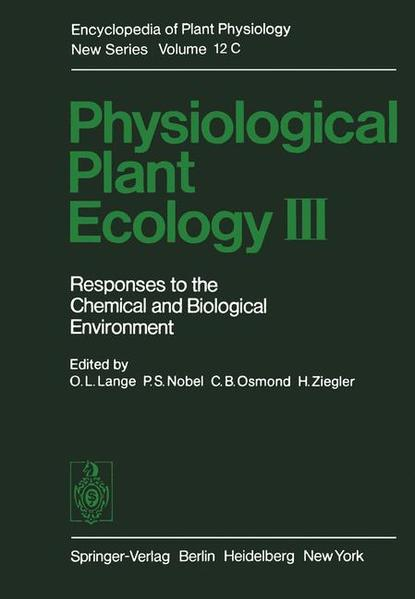 Physiological Plant Ecology III - Coverbild