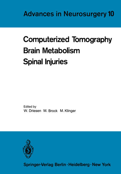 Computerized Tomography Brain Metabolism Spinal Injuries - Coverbild