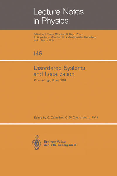 Disordered Systems and Localization - Coverbild