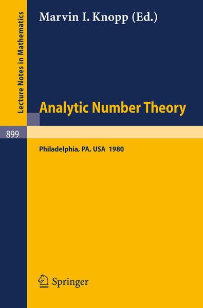 Analytic Number Theory - Coverbild