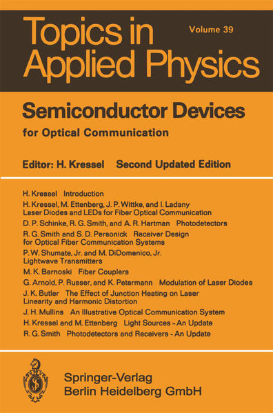 Semiconductor Devices for Optical Communication - Coverbild