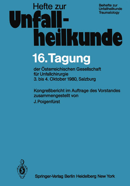 16. Tagung der Österreichischen Gesellschaft für Unfallchirurgie - Coverbild