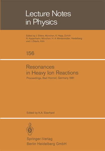 Resonances in Heavy Ion Reactions - Coverbild