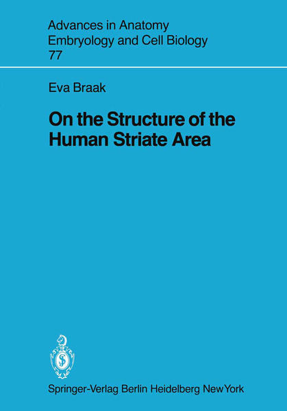 On the Structure of the Human Striate Area - Coverbild
