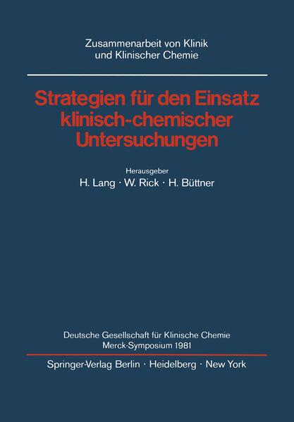 Strategien für den Einsatz klinisch-chemischer Untersuchungen - Coverbild