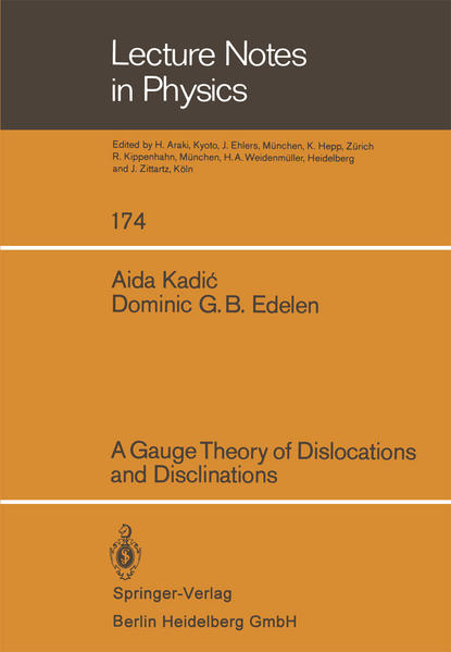 A Gauge Theory of Dislocations and Disclinations - Coverbild
