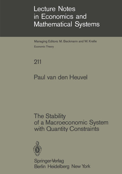 The Stability of a Macroeconomic System with Quantity Constraints - Coverbild