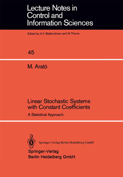Linear Stochastic Systems with Constant Coefficients - Coverbild