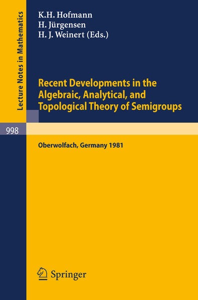 Recent Developments in the Algebraic, Analytical, and Topological Theory of Semigroups - Coverbild