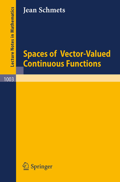 Spaces of Vector-Valued Continuous Functions - Coverbild