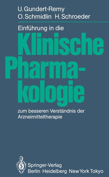 Einführung in die Klinische Pharmakologie - Coverbild