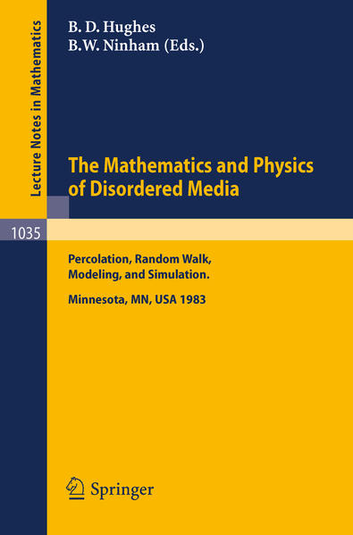 The Mathematics and Physics of Disordered Media - Coverbild