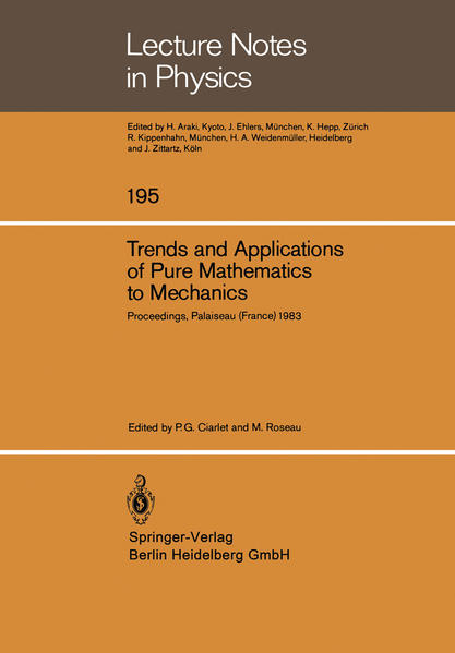 Trends and Applications of Pure Mathematics to Mechanics - Coverbild