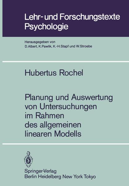 Planung und Auswertung von Untersuchungen im Rahmen des allgemeinen linearen Modells - Coverbild