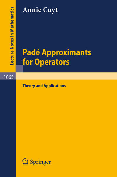 Pade Approximants for Operators - Coverbild