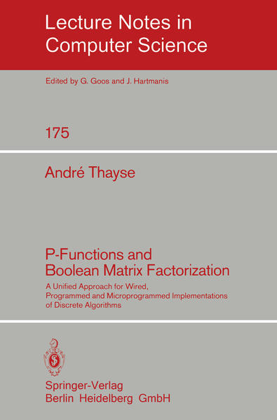 P-Functions and Boolean Matrix Factorization - Coverbild