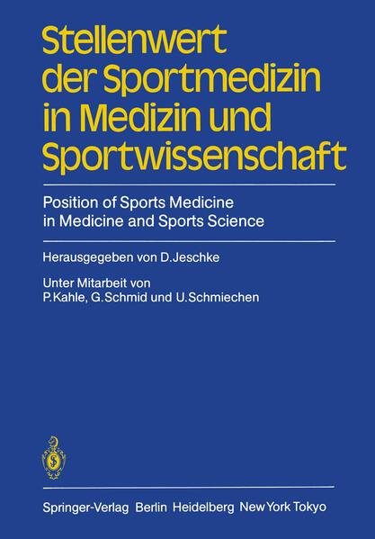 Stellenwert der Sportmedizin in Medizin und Sportwissenschaft/Position of Sports Medicine in Medicine and Sports Science - Coverbild