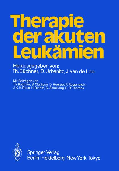 Therapie der akuten Leukämien - Coverbild