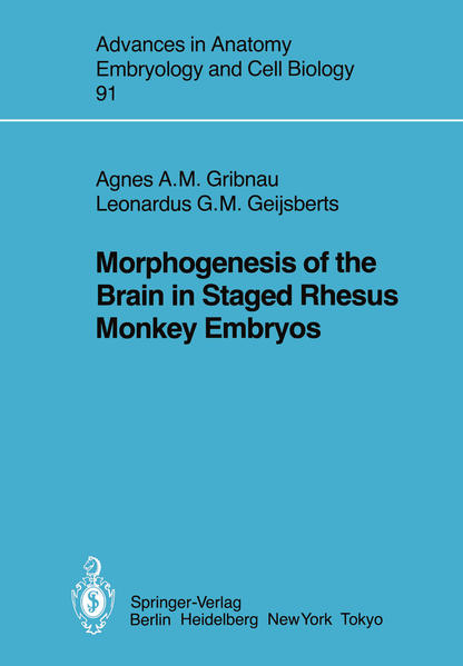 Morphogenesis of the Brain in Staged Rhesus Monkey Embryos - Coverbild
