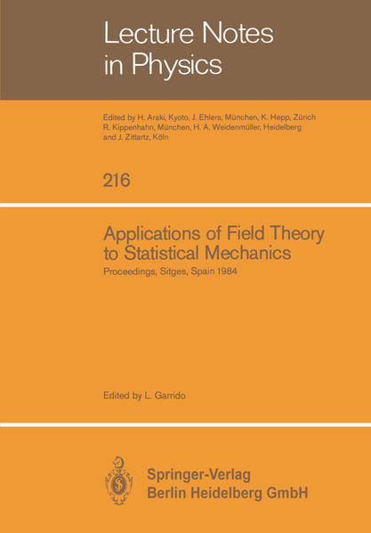 Applications of Field Theory to Statistical Mechanics - Coverbild