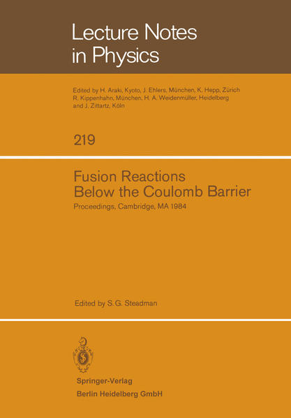 Fusion Reactions Below the Coulomb Barrier - Coverbild