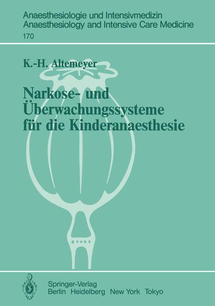 Narkose- und Überwachungssysteme für die Kinderanaesthesie - Coverbild