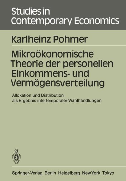 Mikroökonomische Theorie der personellen Einkommens- und Vermögensverteilung - Coverbild