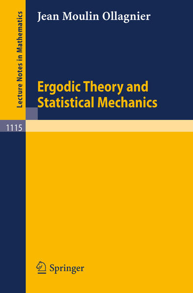 Ergodic Theory and Statistical Mechanics - Coverbild