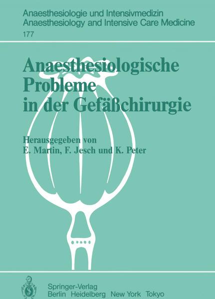 Anaesthesiologische Probleme in der Gefäßchirurgie - Coverbild
