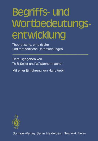 Begriffs- und Wortbedeutungsentwicklung - Coverbild