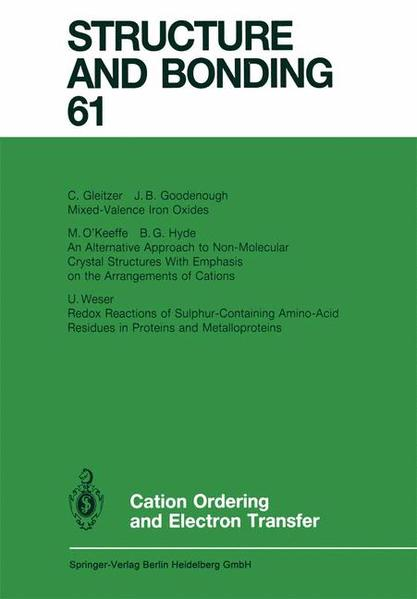 Cation Ordering and Electron Transfer - Coverbild