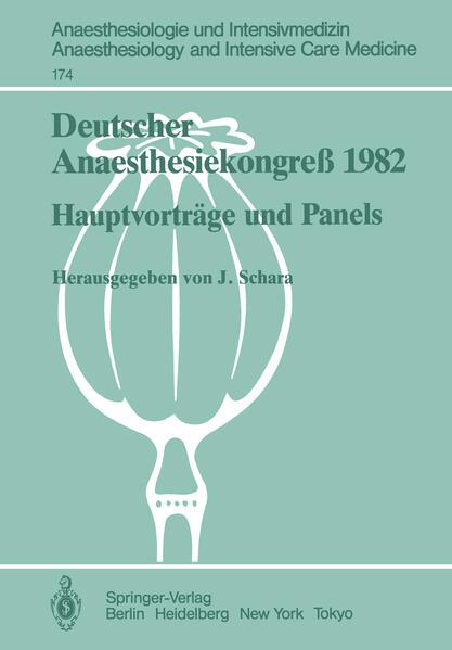 Deutscher Anaesthesiekongreß 1982 - Coverbild