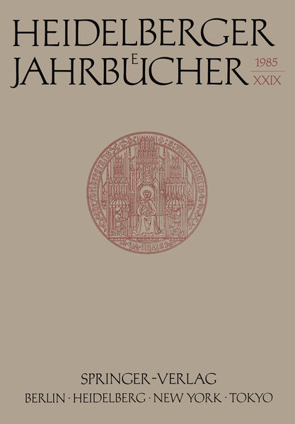 Heidelberger Jahrbücher - Coverbild
