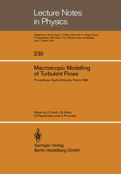 Macroscopic Modelling of Turbulent Flows - Coverbild