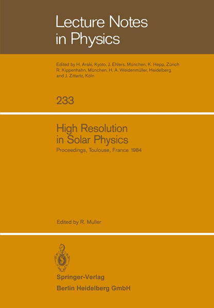 High Resolution in Solar Physics - Coverbild