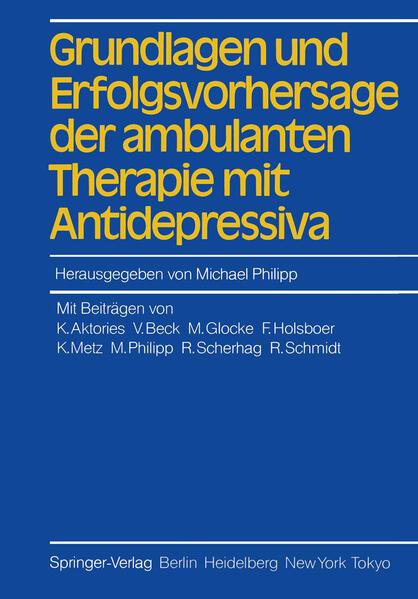 Grundlagen und Erfolgsvorhersage der ambulanten Therapie mit Antidepressiva - Coverbild