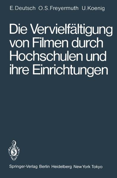 Die Vervielfältigung von Filmen durch Hochschulen und ihre Einrichtungen - Coverbild