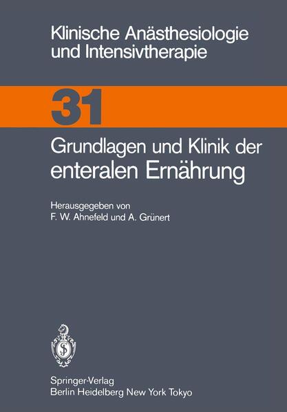 Grundlagen und Klinik der enteralen Ernährung - Coverbild