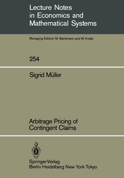 Arbitrage Pricing of Contingent Claims - Coverbild