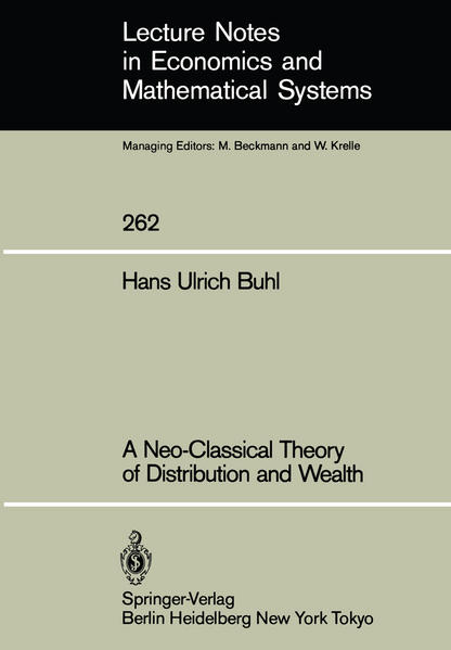 A Neo-Classical Theory of Distribution and Wealth - Coverbild
